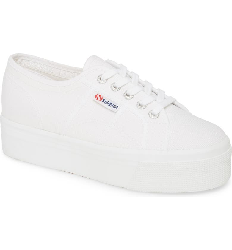 SUPERGA 'Acot Linea' Sneaker, Main, color, TOTAL WHITE