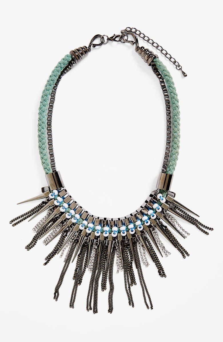 ADIA KIBUR Spike & Crystal Collar Necklace, Main, color, 040