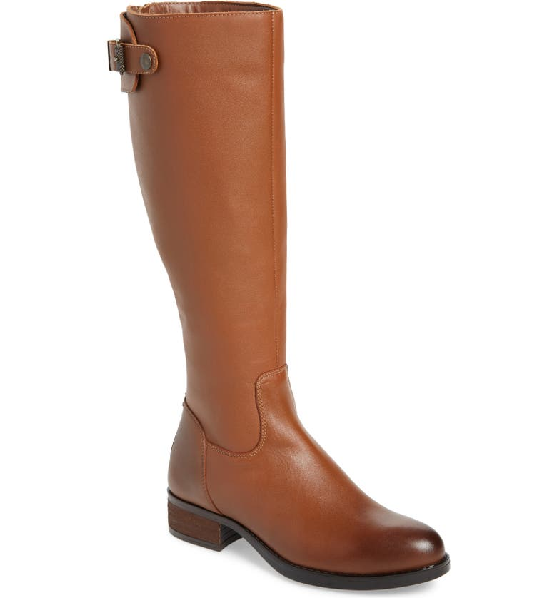 STEVE MADDEN Edie Knee High Boot, Main, color, COGNAC LEATHER