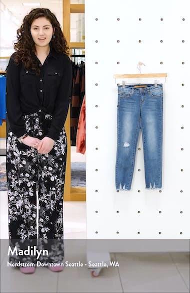 Kids' The Rocker Raw Hem Ankle Skinny Jeans, sales video thumbnail