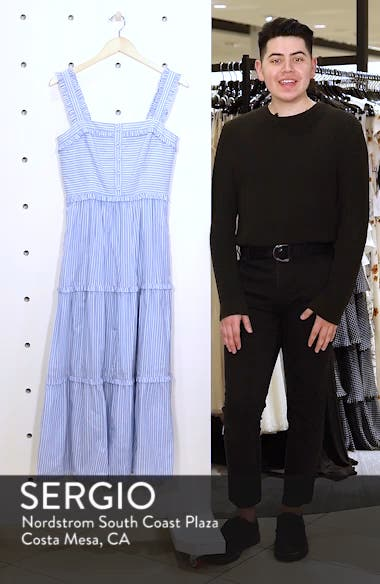 Courtney Rio Stripe Lawn Maxi Dress, sales video thumbnail