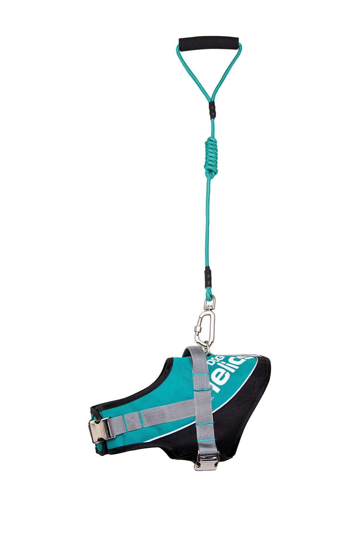 Image of PETKIT Small Teal Helios Bark-Mudder Easy Tension Reflective Endurance 2-in-1 Adjustable Dog Leash & Harness