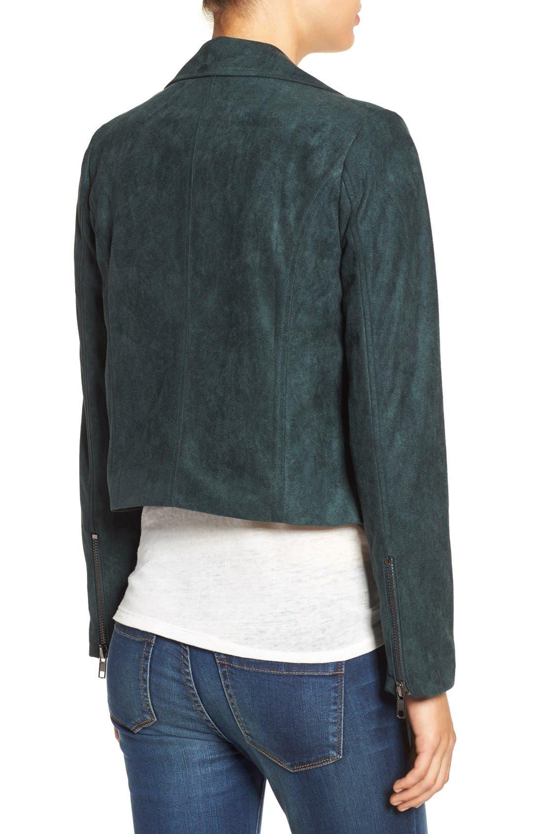 ,                             ASTR Faux Suede Moto Jacket,                             Alternate thumbnail 14, color,                             300