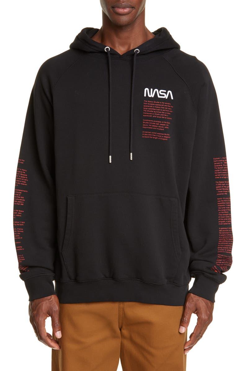 HERON PRESTON NASA Hooded Sweatshirt, Main, color, BLACK MULTI