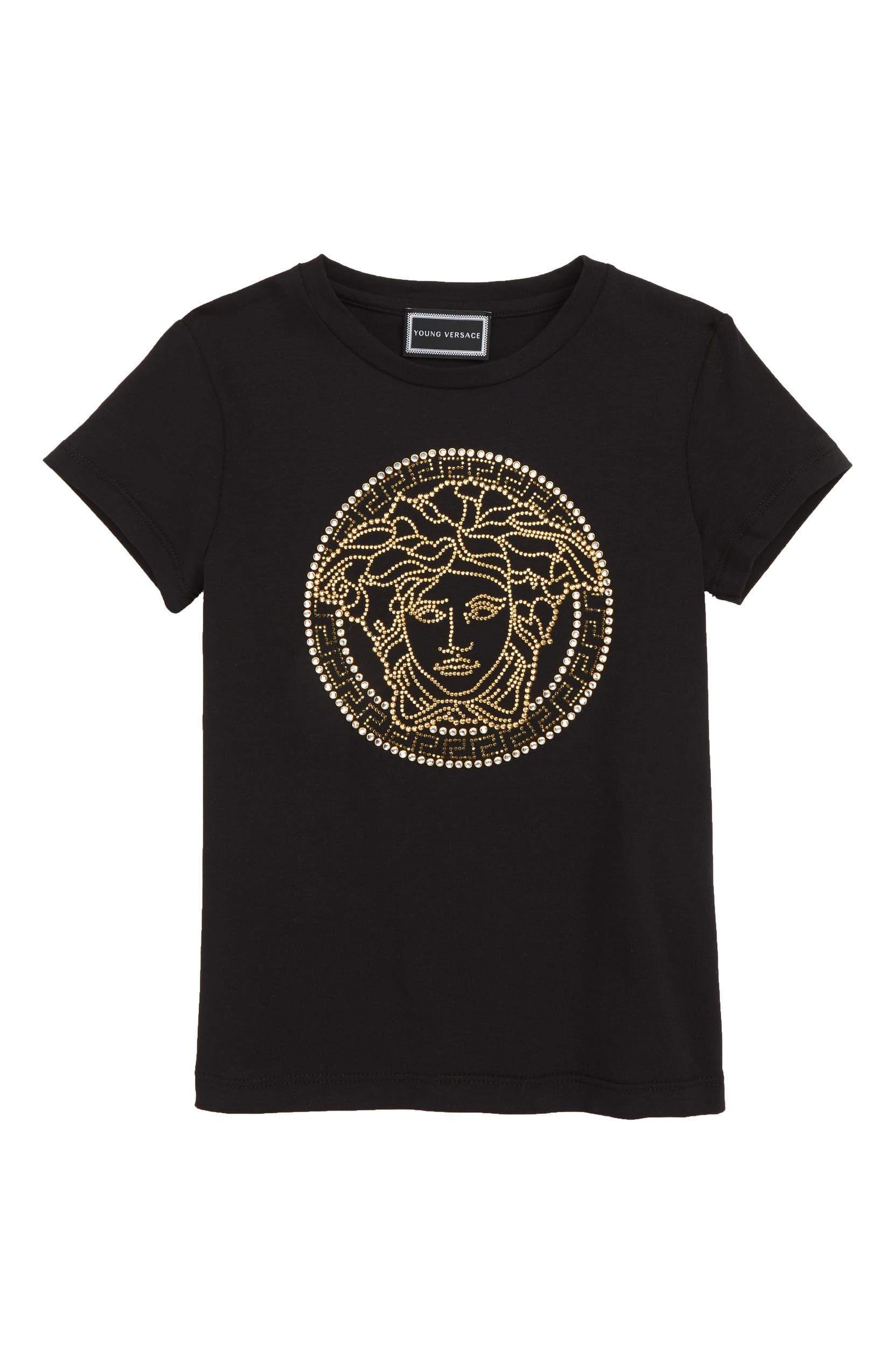76b94b93 Versace Medusa Strass Logo Tee (Little Girls & Big Girls) | Nordstrom