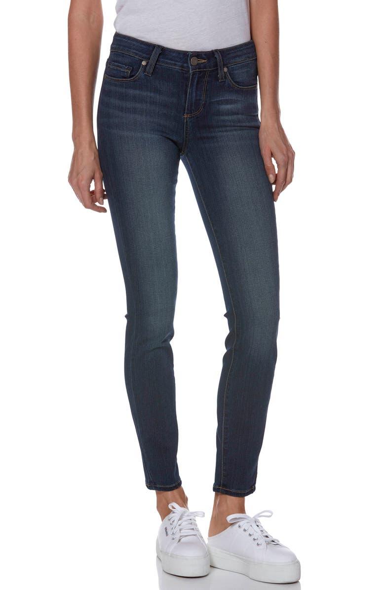 PAIGE Transcend - Verdugo Ankle Skinny Jeans, Main, color, NOTTINGHAM