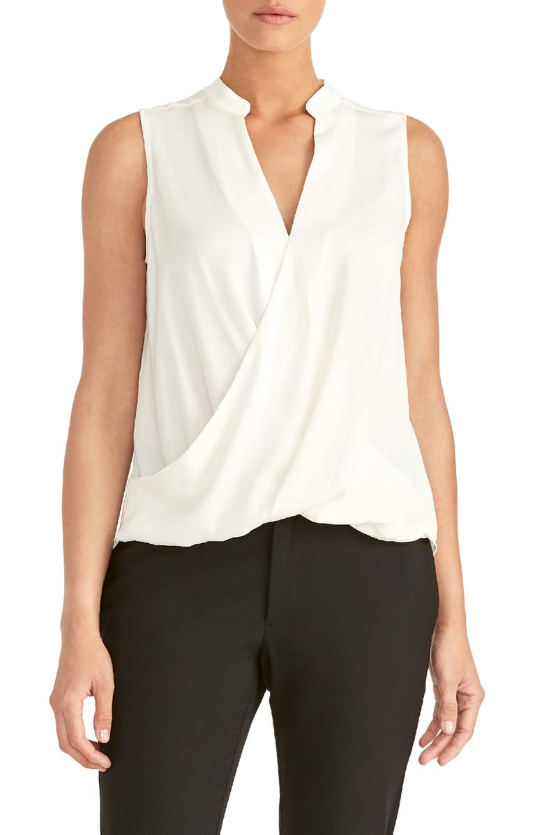 RACHEL ROY COLLECTION Twist Neck Tank Top, Main, color, NATURAL