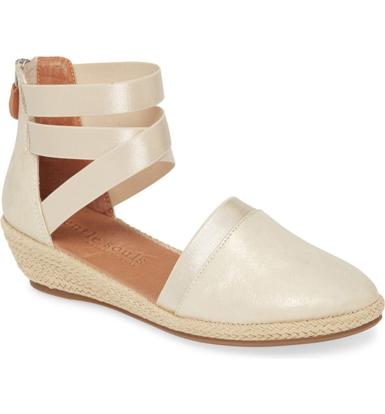 GENTLE SOULS BY KENNETH COLE Beth Espadrille Sandal, Main, color, ICE LEATHER