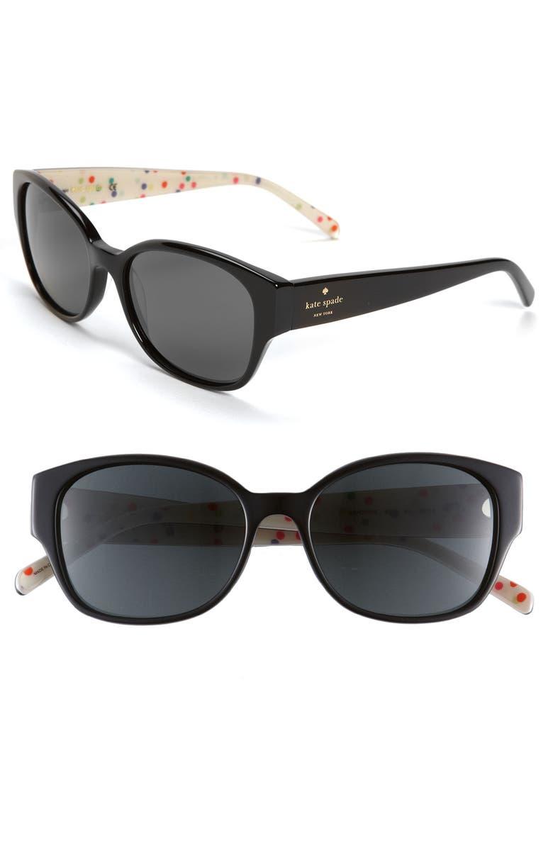 KATE SPADE NEW YORK polarized sunglasses, Main, color, 001