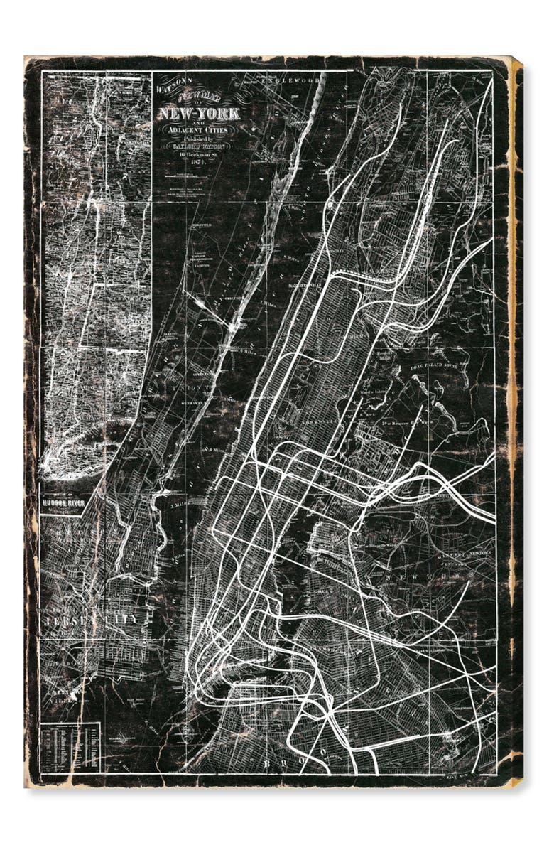 Subway Map Wall Art.Oliver Gal New York Subway Map Canvas Wall Art Nordstrom