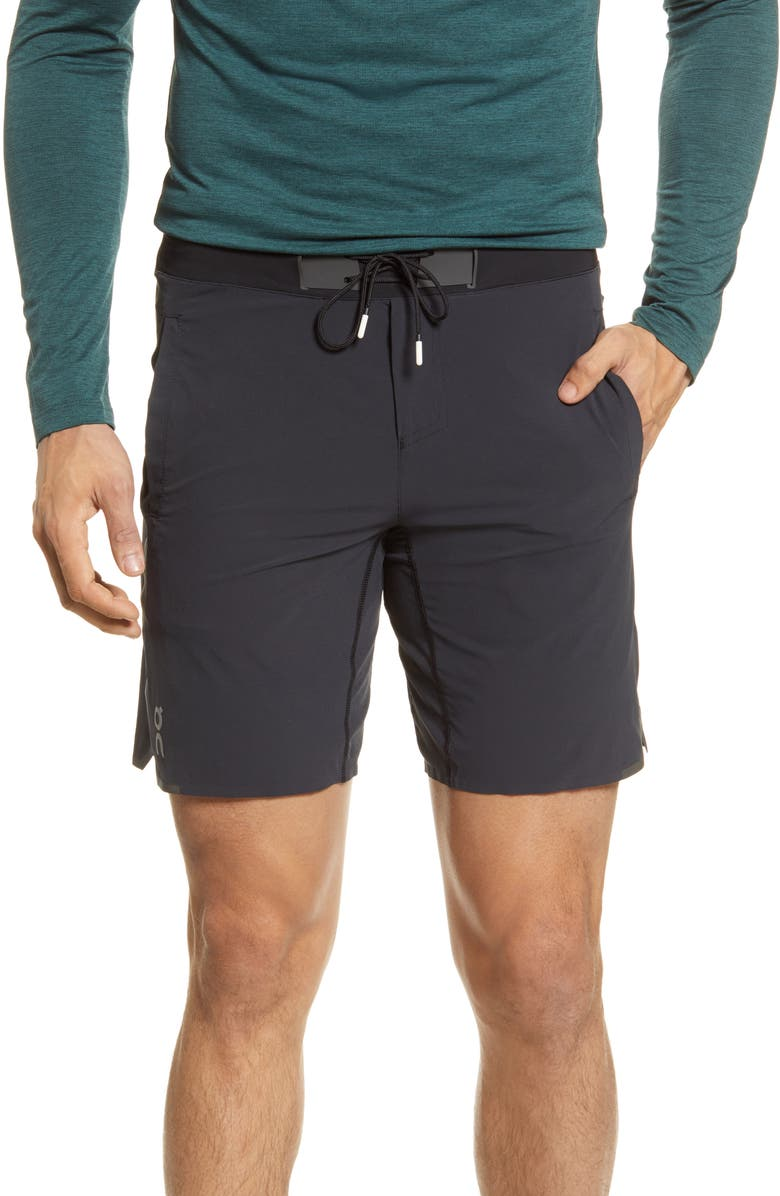 ON Waterproof Running Shorts, Main, color, BLACK