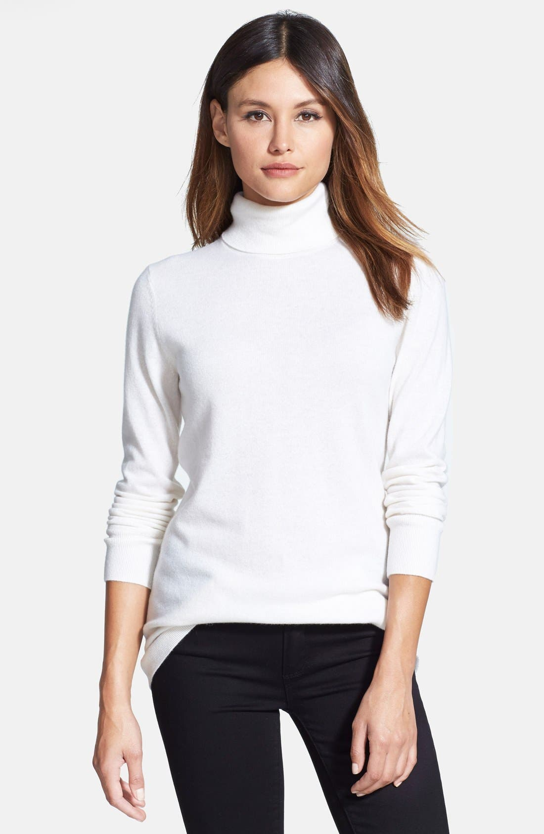 ,                             Long Cashmere Turtleneck Sweater,                             Main thumbnail 46, color,                             900