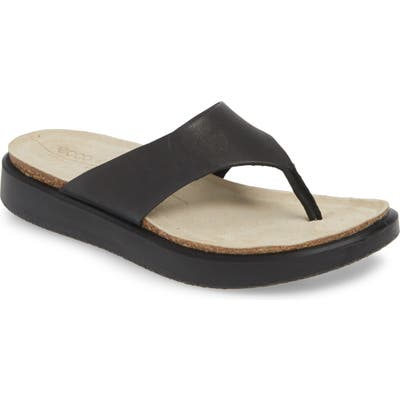 Ecco Corksphere Flip Flop, Black