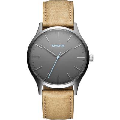Mvmt 40 Series Leather Strap Watch, 40Mm