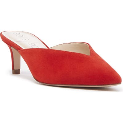 Sole Society Maleah Pointy Toe Mule, Red