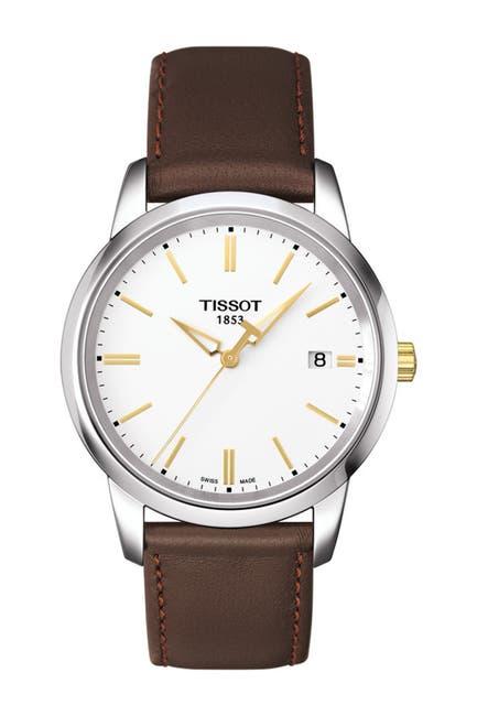 Image of Tissot Men's Classic Dream Swiss Quartz Leather Strap Watch, 38mm