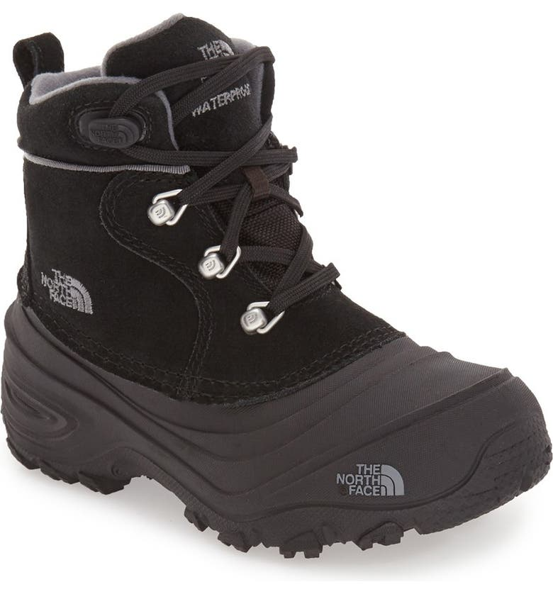 THE NORTH FACE 'Chilkat II' Waterproof Insulated Snow Boot, Main, color, BLACK/ ZINC GREY