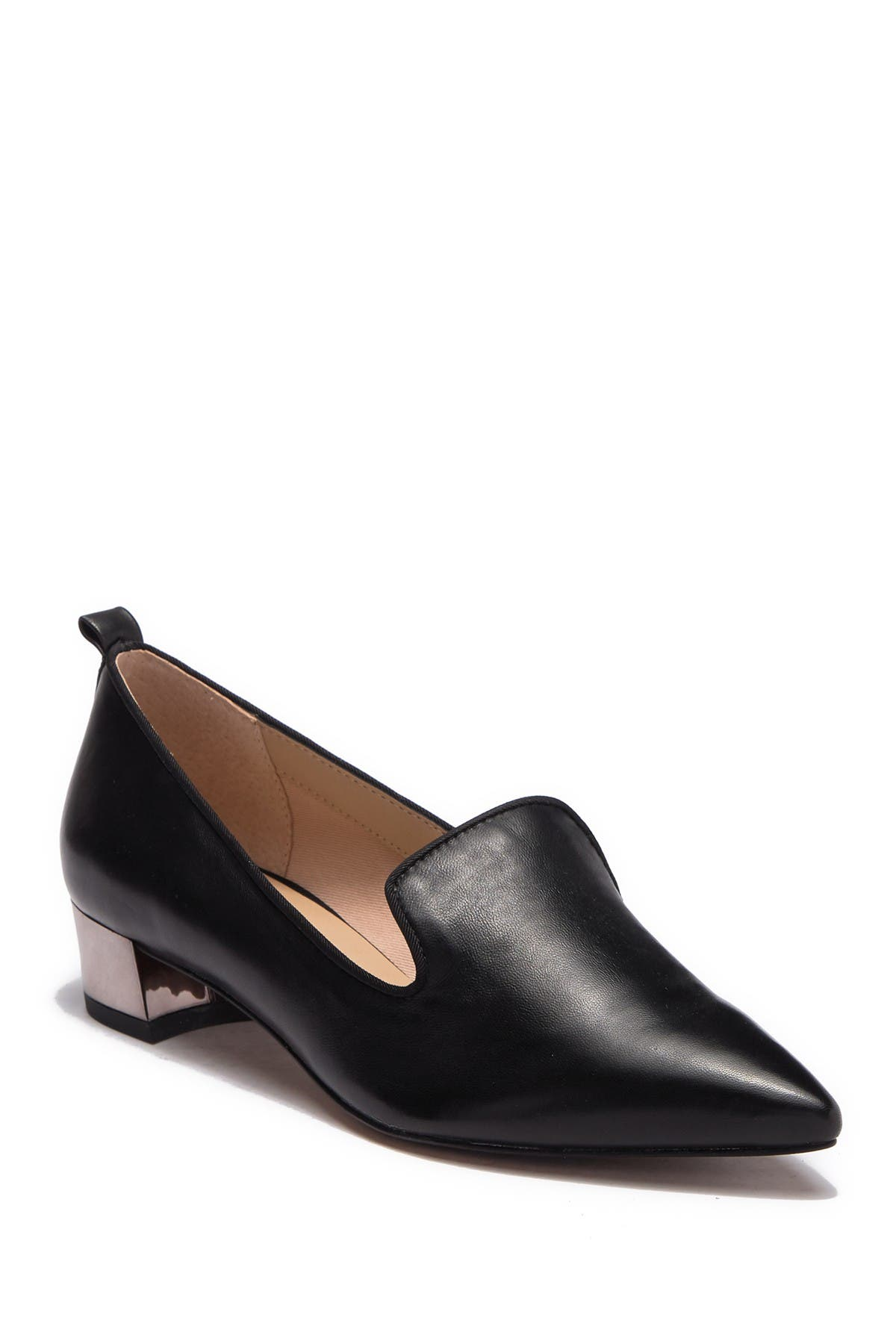 Image of Franco Sarto Vianna Leather Block Heel Loafer