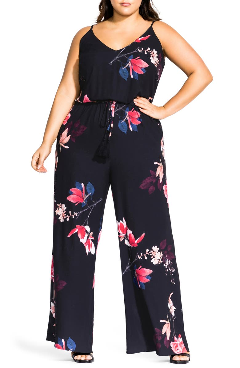c916393d620 City Chic Spring Lotus Jumpsuit (Plus Size)   Nordstrom