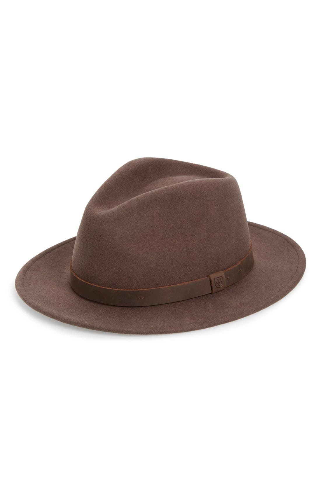 ,                             Messer II Felted Wool Fedora,                             Main thumbnail 9, color,                             200