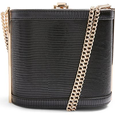 Topshop Sadie Boxy Shoulder Bag - Black