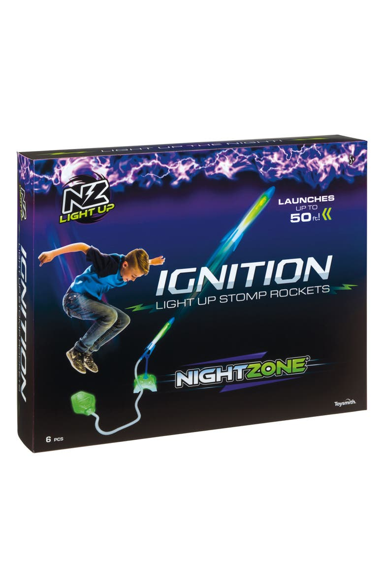 TOYSMITH NightZone Ignition Light-Up Stomp Rockets, Main, color, 400