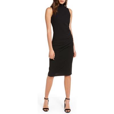 Chelsea28 Mock Neck Sheath Dress, Black