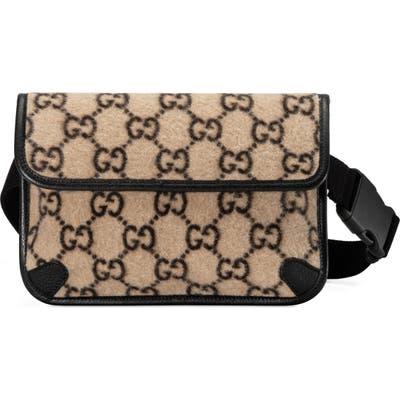 Gucci Gg Wool Belt Bag - Beige