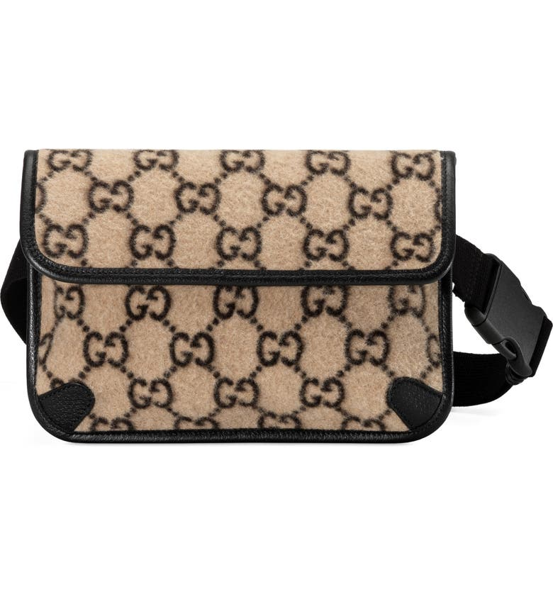GUCCI GG Wool Belt Bag, Main, color, 250