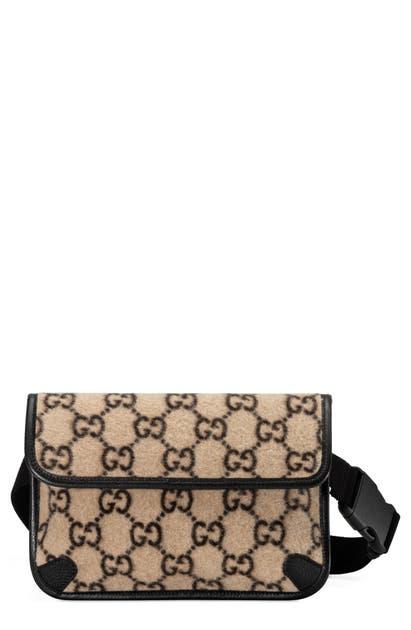 Gucci Belt GG WOOL BELT BAG - BEIGE