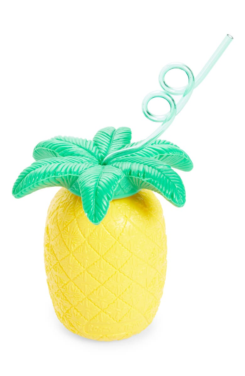 SUNNYLIFE Pineapple Cup & Straw, Main, color, 700