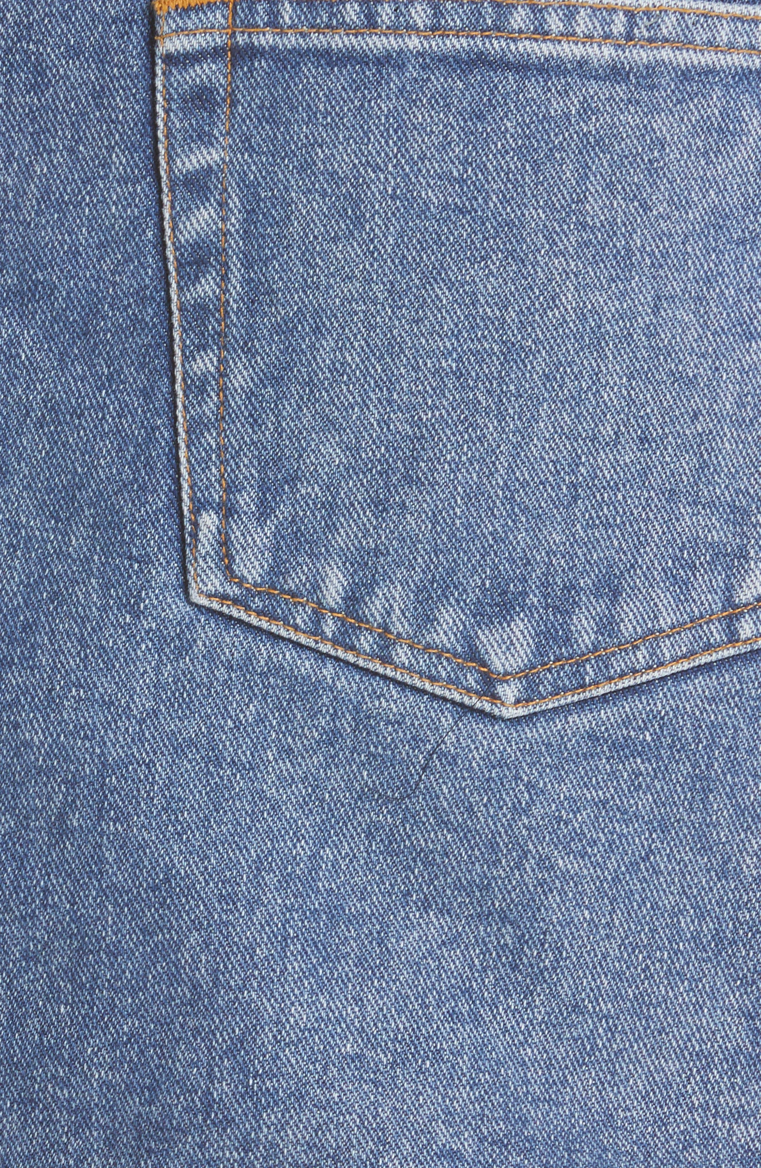 ,                             Denim Miniskirt,                             Alternate thumbnail 5, color,                             VINTAGE WASH 4