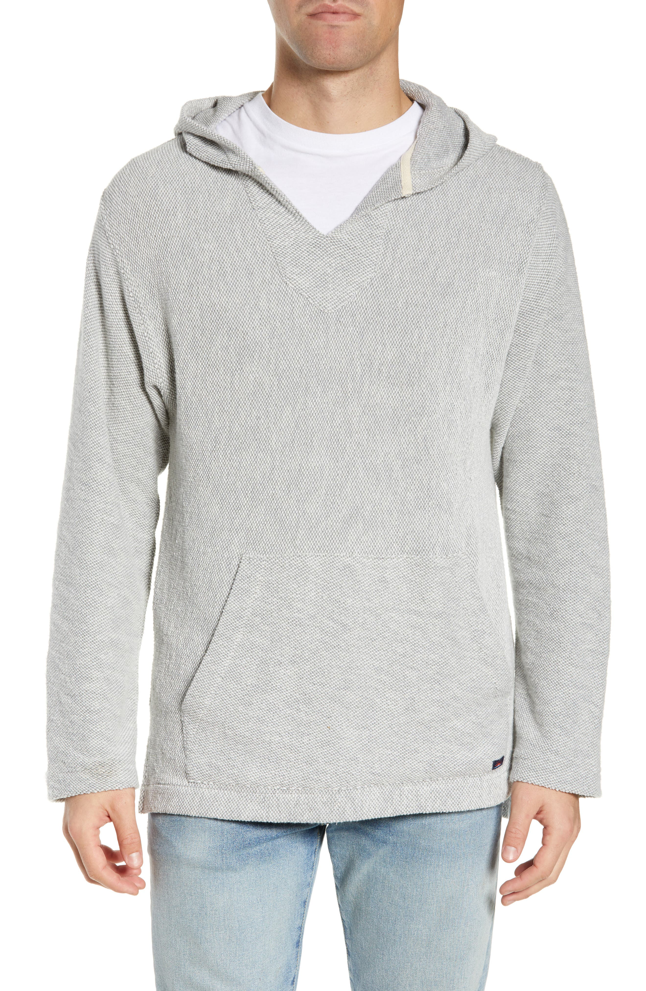 Image of FAHERTY BRAND Textured V-Neck Pullover Hoodie
