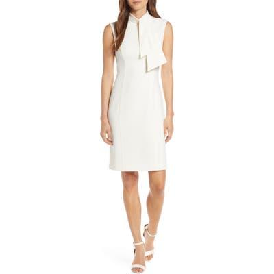 Harper Rose Tie Neck Sheath Dress, Ivory