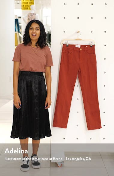 Le High Ankle Straight Leg Jeans, sales video thumbnail