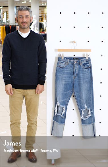 Dylan Ripped High Waist Crop Jeans, sales video thumbnail