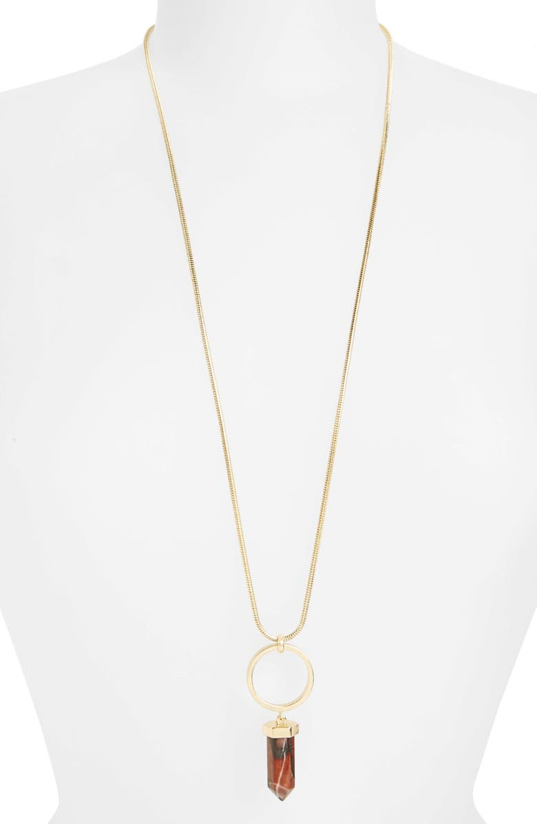 TOPSHOP Ring & Shard Necklace, Main, color, 710