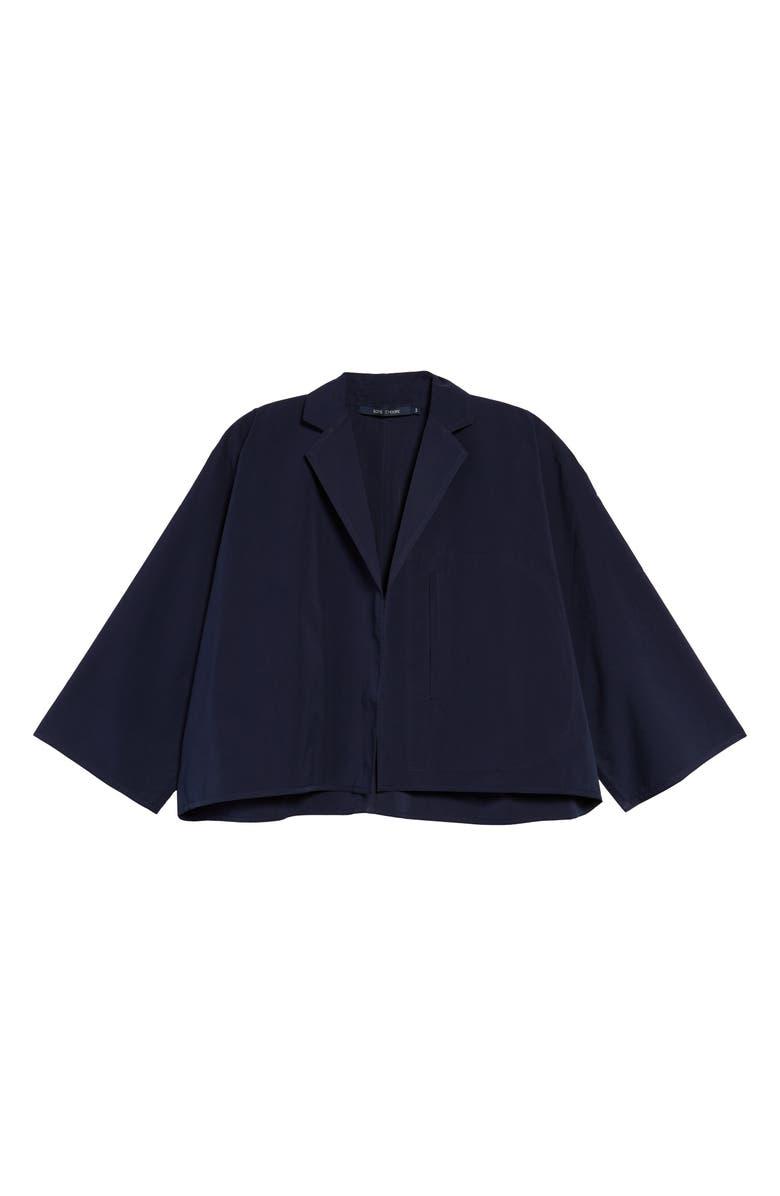 SOFIE D'HOORE Cotton Taffeta Jacket, Main, color, DARK NAVY