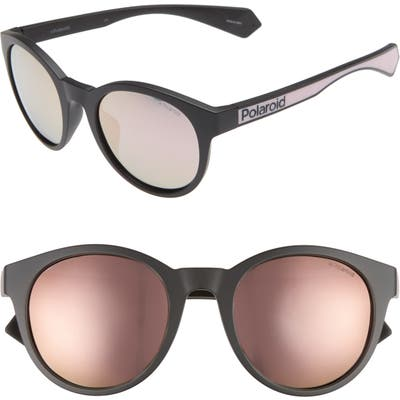 Polaroid 52Mm Polarized Mirrored Round Sunglasses -
