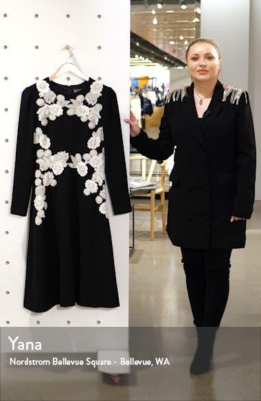 Lace Detail Long Sleeve Midi Dress, sales video thumbnail