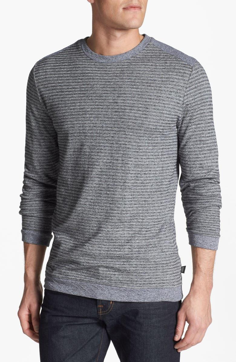 BOSS HUGO BOSS 'Abruzzi' Slim Fit Long Sleeve T-Shirt, Main, color, 010
