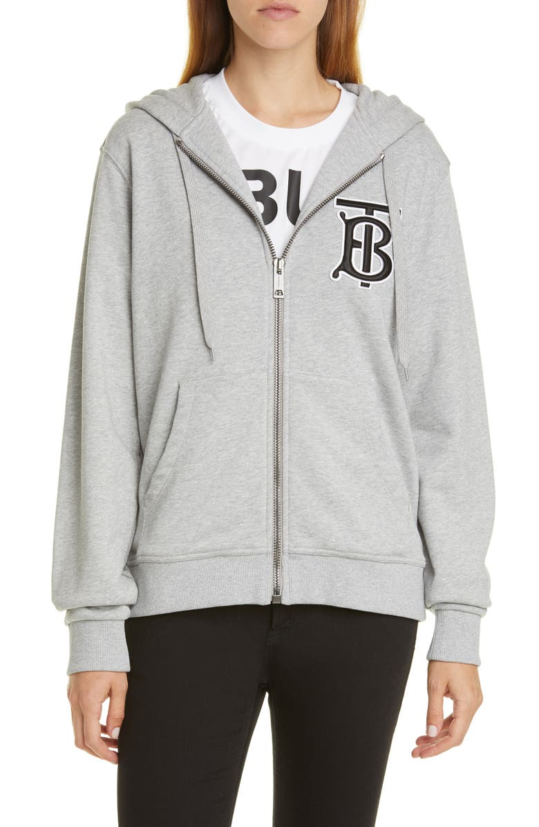 Aubree Zip Front Hoodie by Burberry