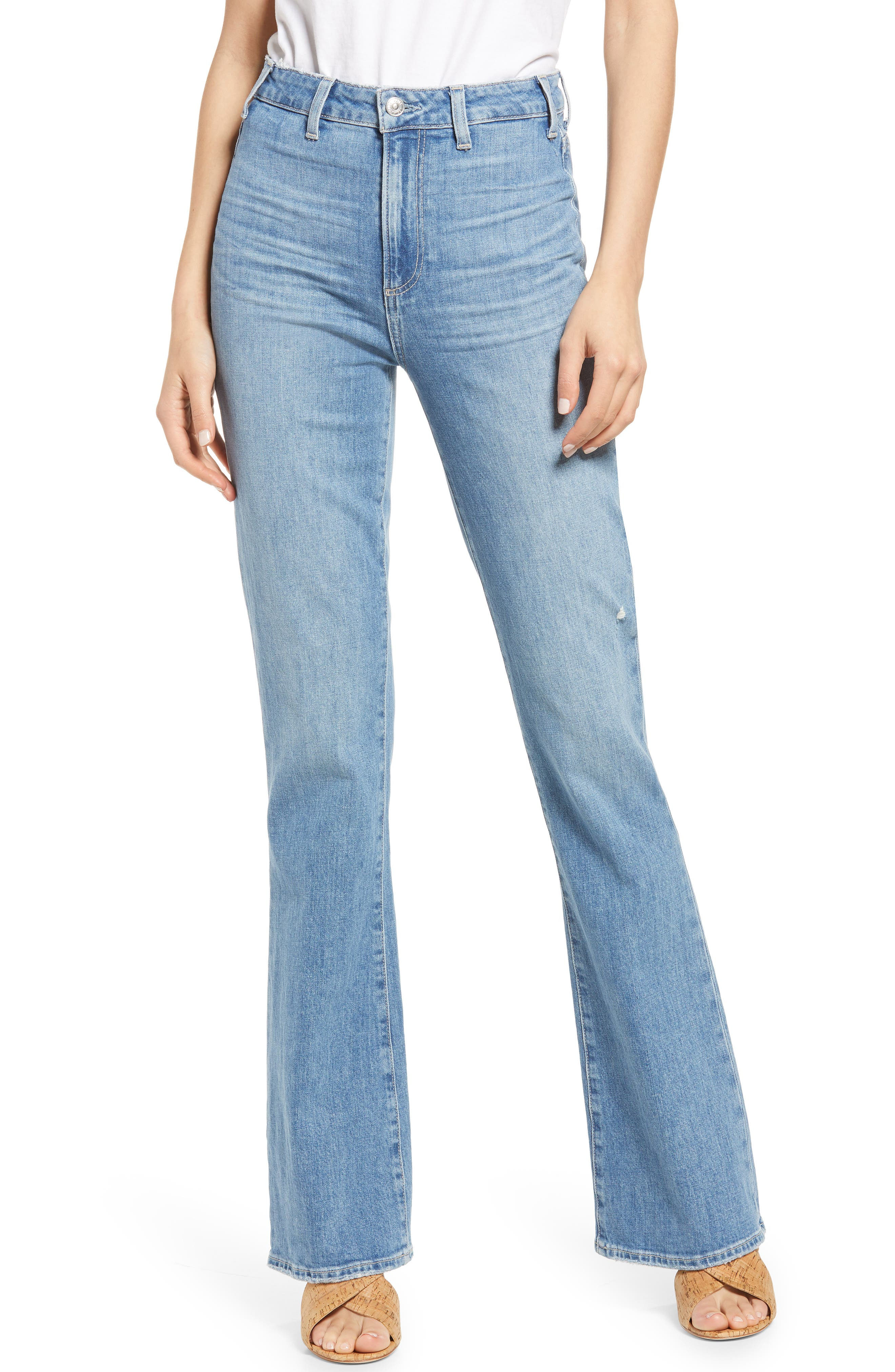 Women's Paige Clean Front Ultra High Waist Flare Jeans
