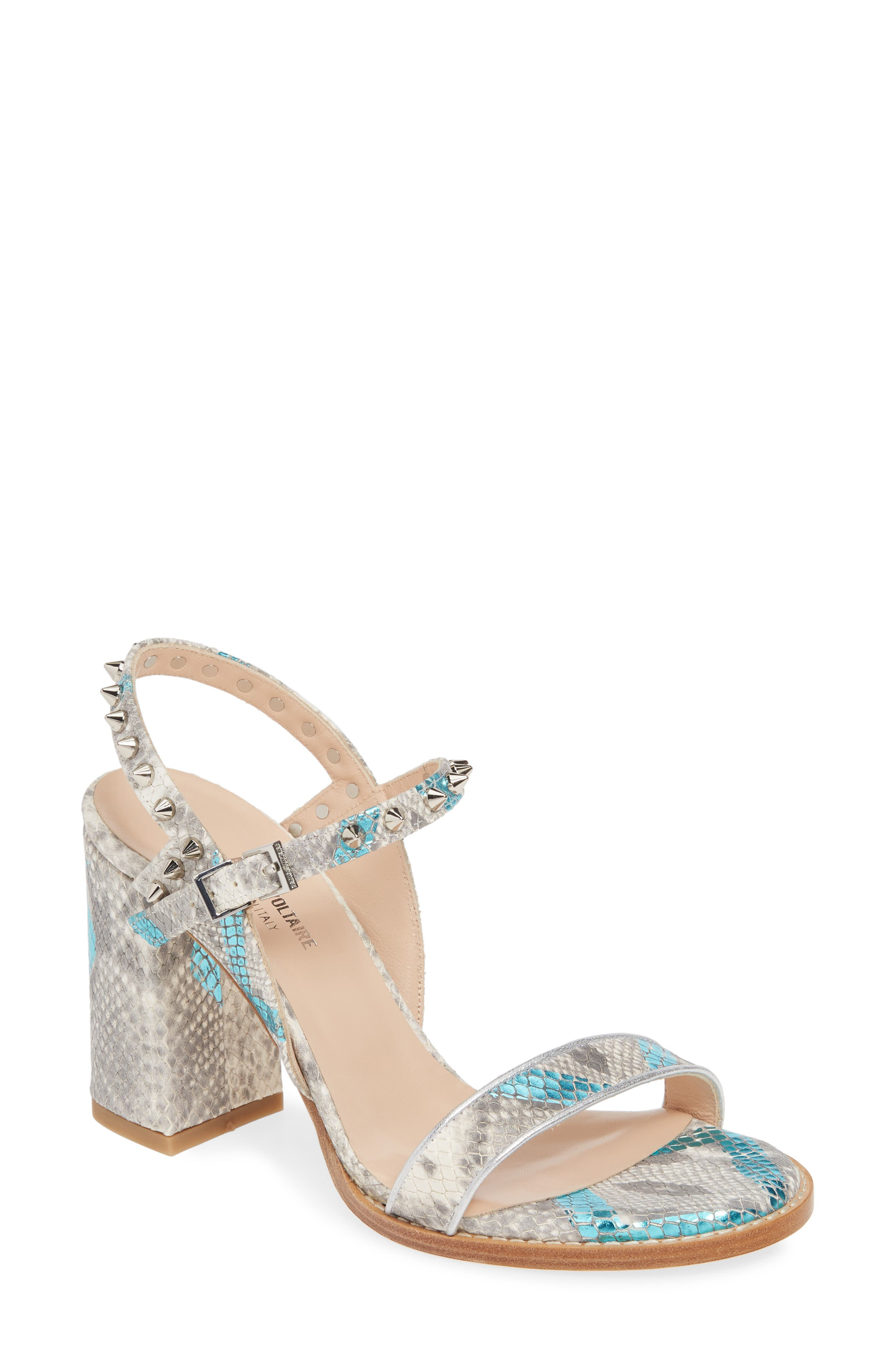 Bouge Snake Embossed Spiked Sandal by Zadig &Amp; Voltaire