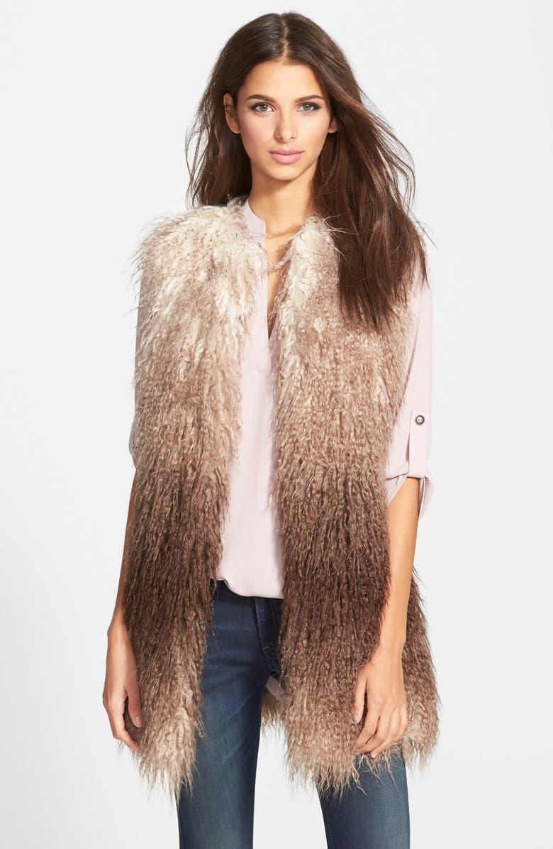 STEVE MADDEN Ombré Faux Fur Vest, Main, color, 200