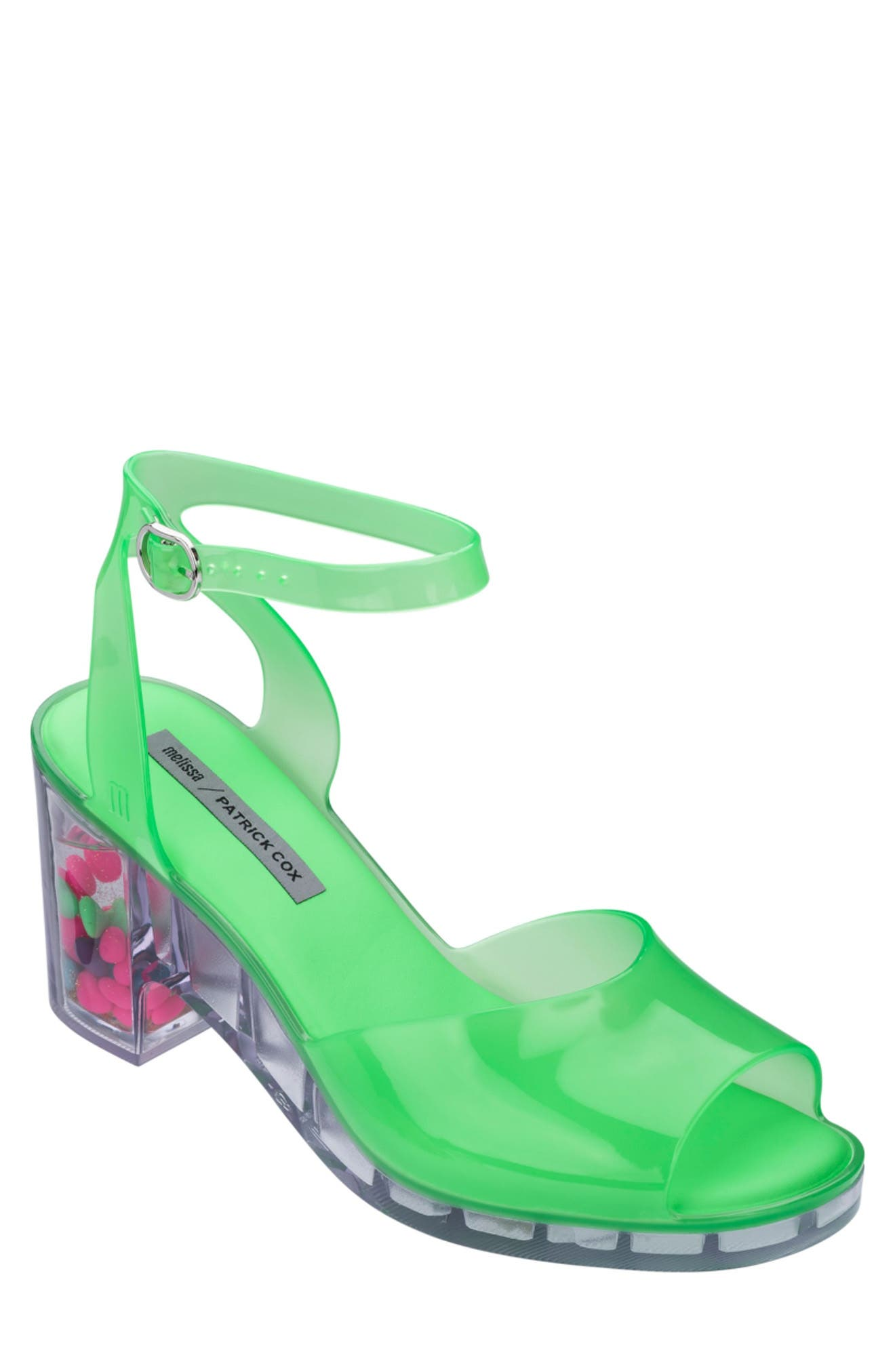 80s Shoes, Sneakers, Jelly flats  1980s Shoes MELISSA x Patrick Cox Heart Heel Jelly Sandal Size 9 in Green at Nordstrom Rack $59.97 AT vintagedancer.com