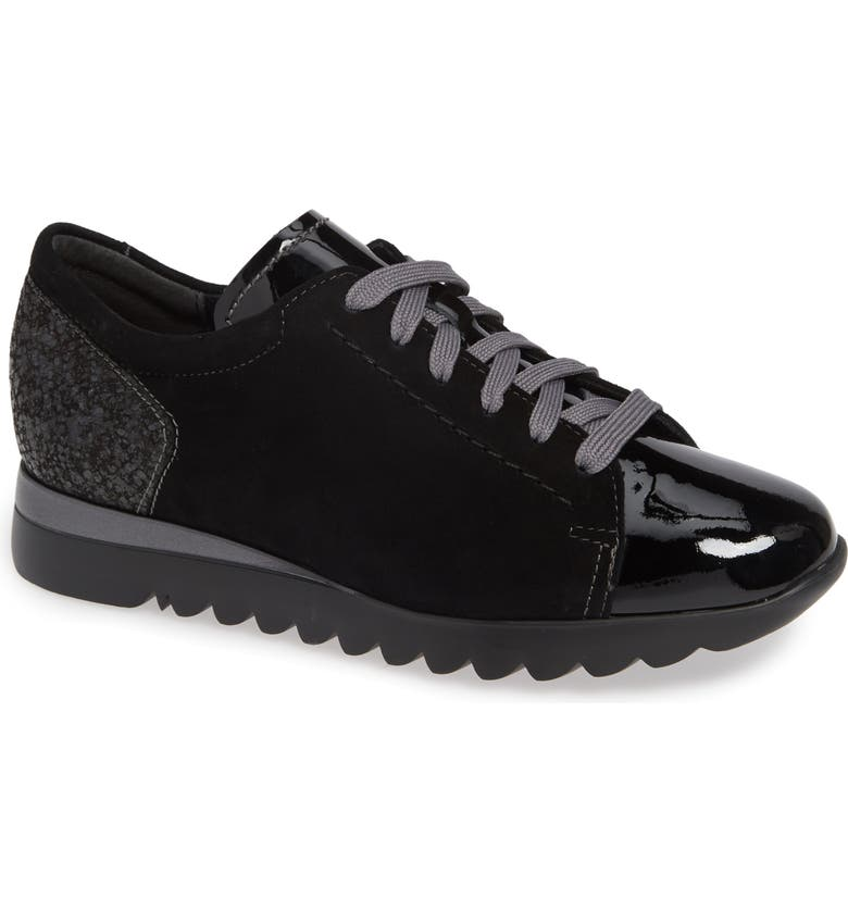 MUNRO Kellee Derby, Main, color, BLACK PATENT/ BLACK SUEDE
