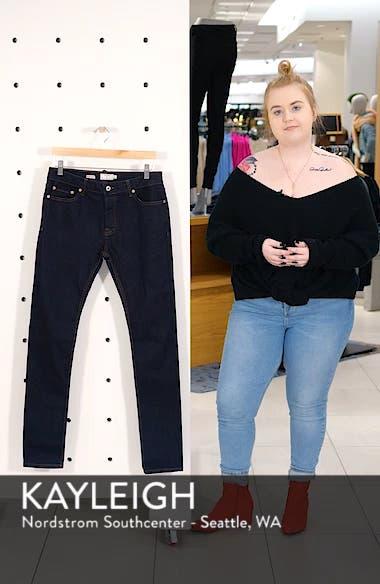 Stretch Skinny Fit Raw Denim Jeans, sales video thumbnail