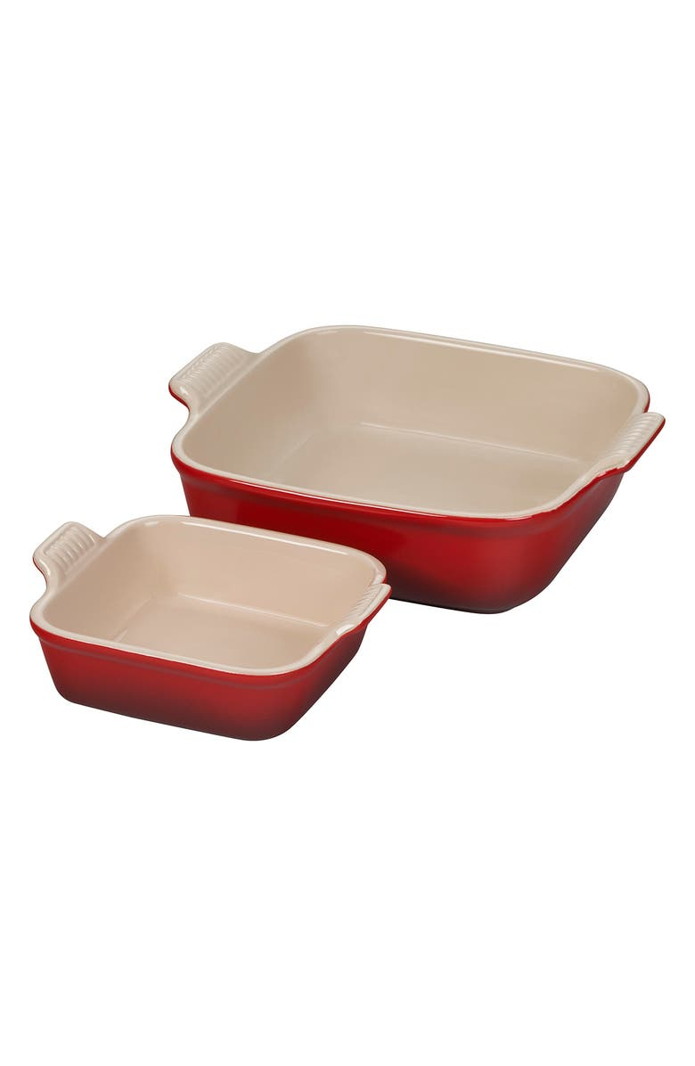 Le Creuset Heritage Set of 2 Square Baking Dishes — 25% Off