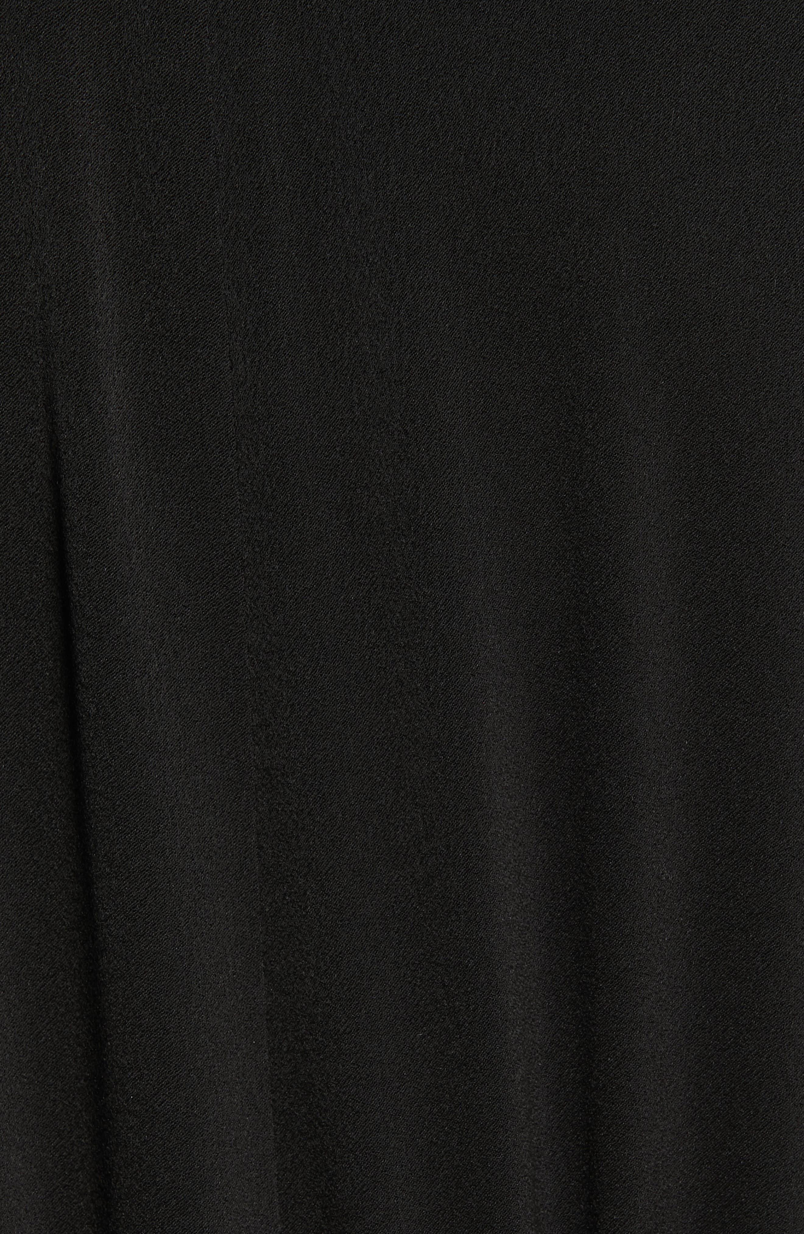 ,                             Tie Front Shirtdress,                             Alternate thumbnail 5, color,                             BLACK